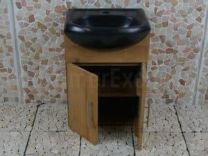 Houten Bad- of Toiletmeubel Arjuna Cabinet Teak 45 cm.