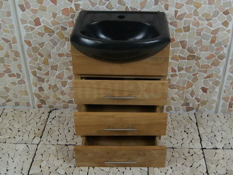 Teakhouten Bad- of Toiletmeubel Baluran Cabinet 45 cm.