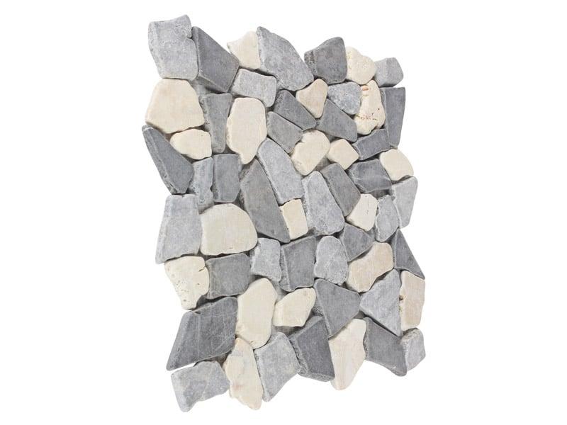 Breuksteen mozaïek tegel wit/lichtgrijs/grijs