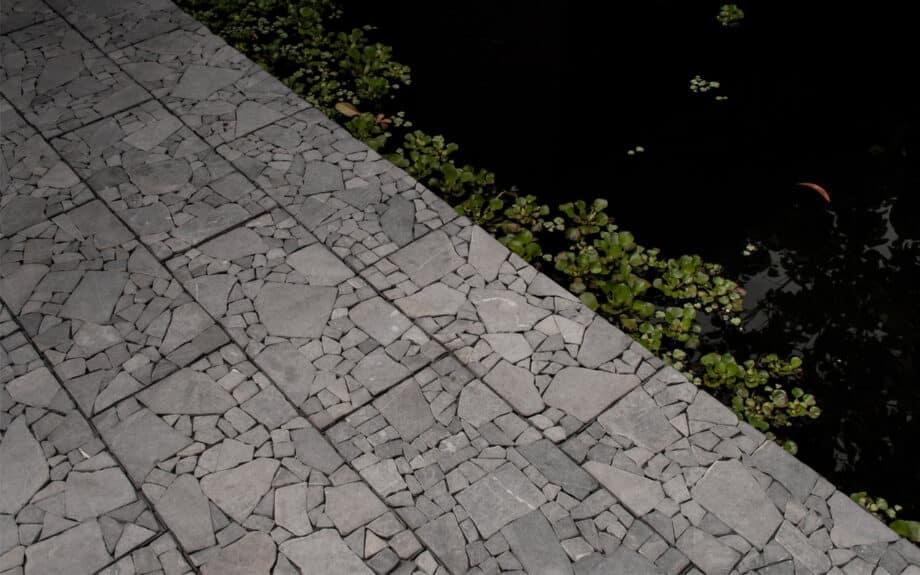 Terrastegel Clicktegel marmer grijs 60*30 cm.