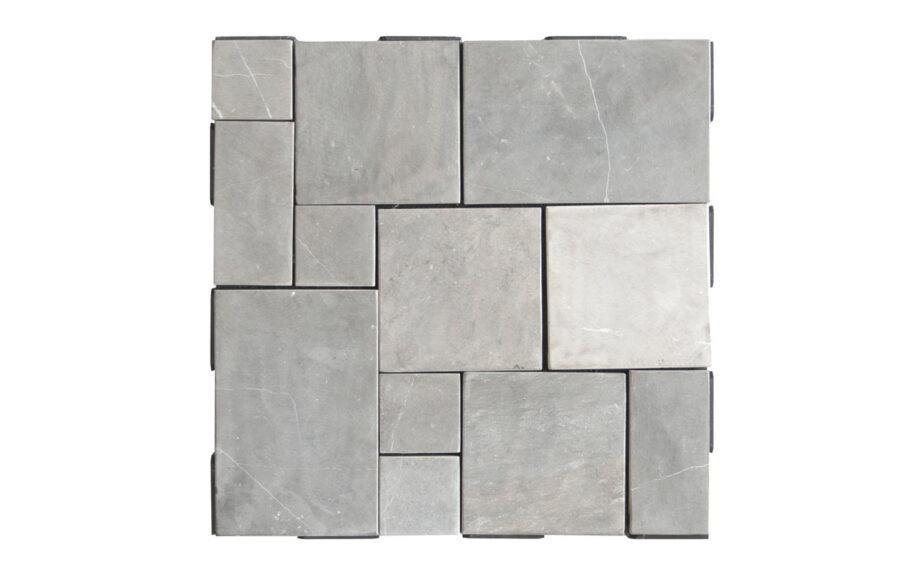Patchwork dakterrastegel grijs 30*30 cm.