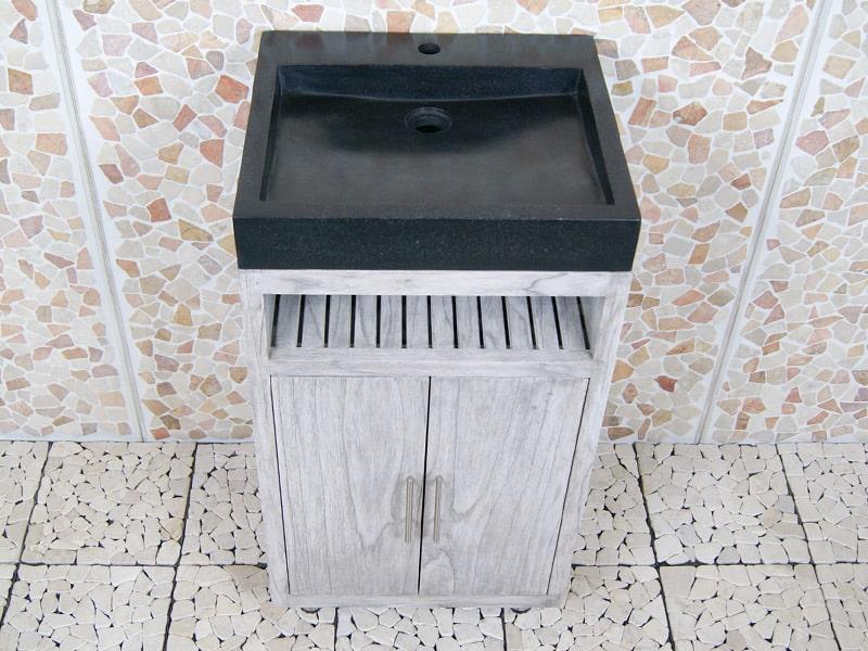 Badkamermeubel Raung Cabinet Mindyhout 50 cm. terrazzo