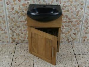 Bad- of Toiletmeubel Semeru Cabinet Houtsoort Teak 45 cm.