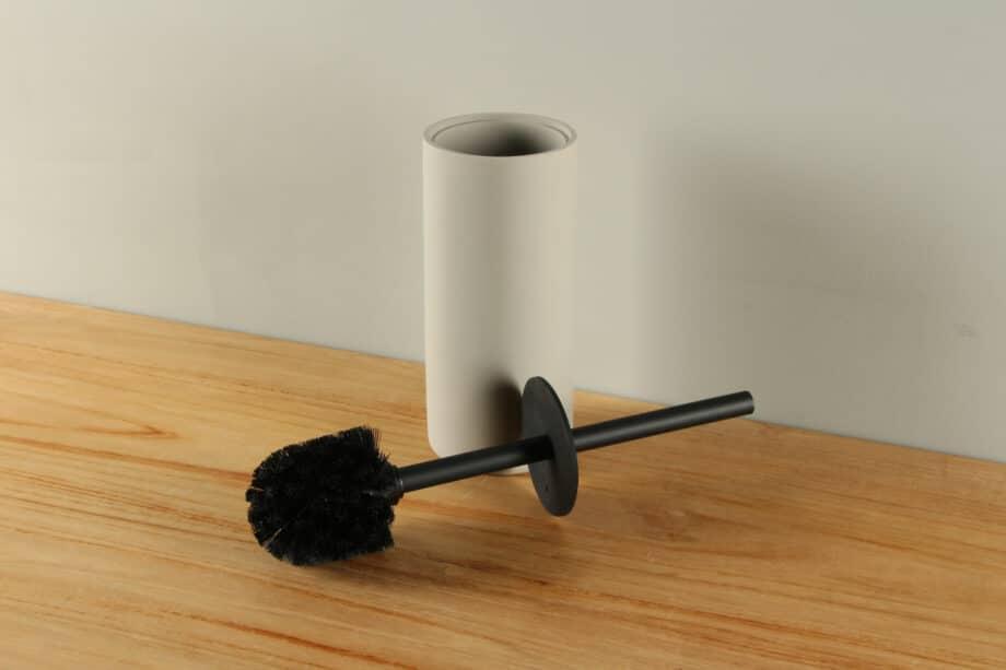 Toiletborstelhouder mat betonlook polyresin BE-AT003