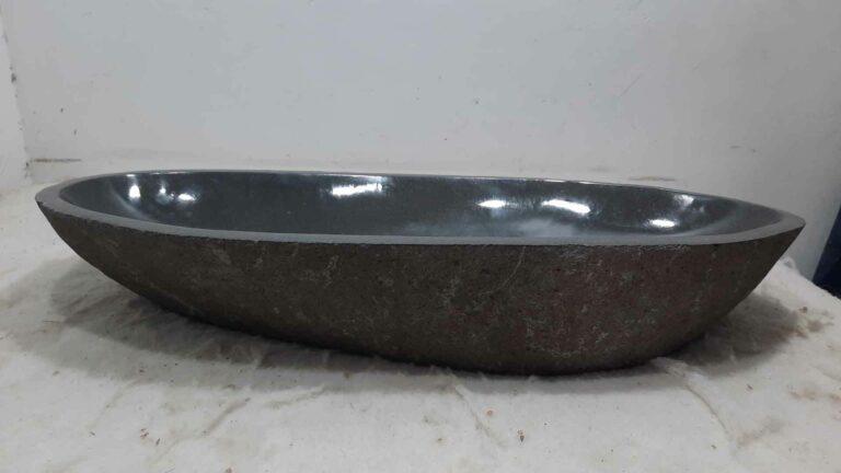 Wasbak natuursteen kiezel RXXL0704
