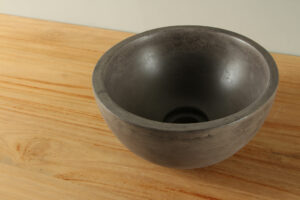Waskom betonlook donkergrijs 25 cm BE-B004zk
