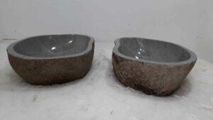 Waskommen rivier steen set RM0804 AB