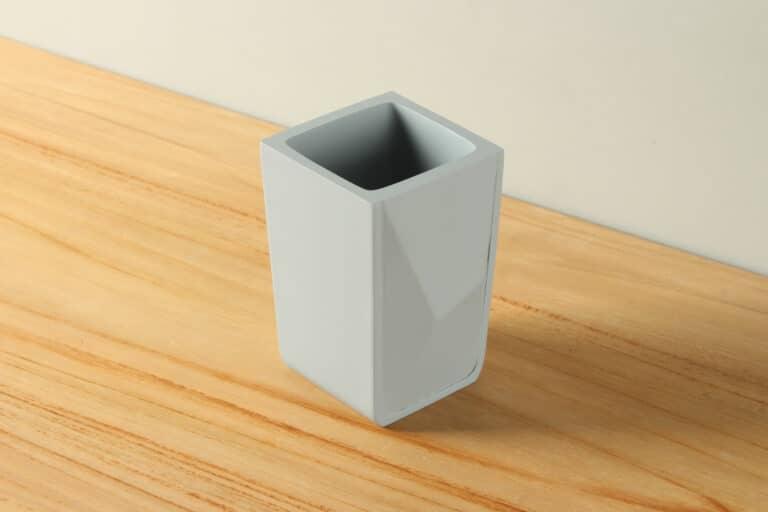 Beker mat betonlook diamant polyresin BE-AB004