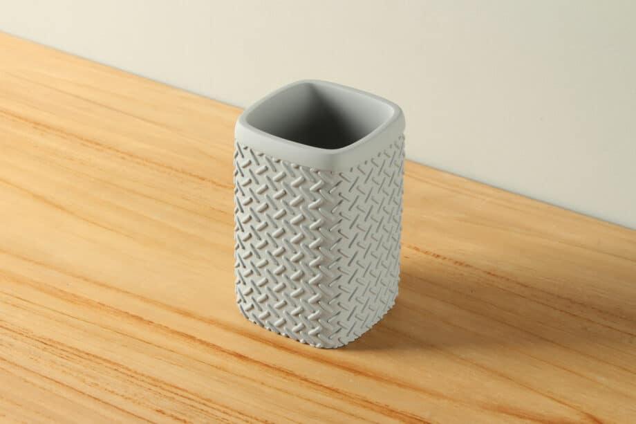 Beker mat betonlook traanplaat polyresin BE-AB005
