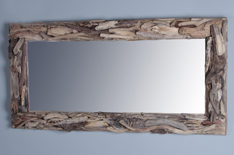 Drijfhouten spiegel 140x70 cm.