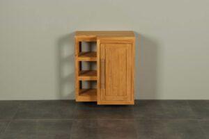 Hangend toiletmeubel hout Kerinci deur rechts 60 cm