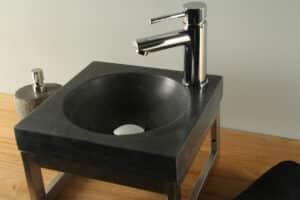 Natuursteen wasbak hardsteen 30 cm BE-022mk