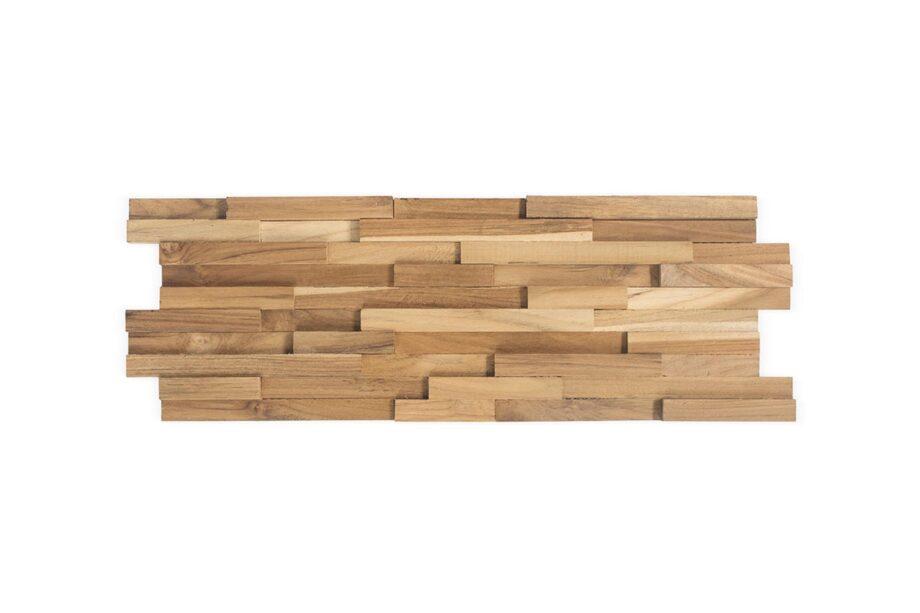 houten wandpaneel teakhout