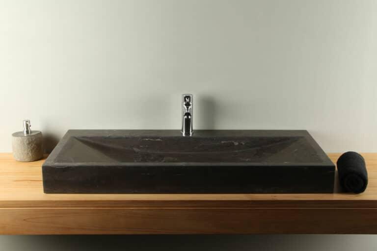 Natuurstenen wasbak hardsteen 100 cm BE-003-1k