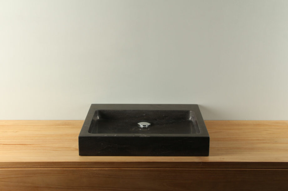 Natuurstenen wasbak hardsteen 50 cm BE-038zk