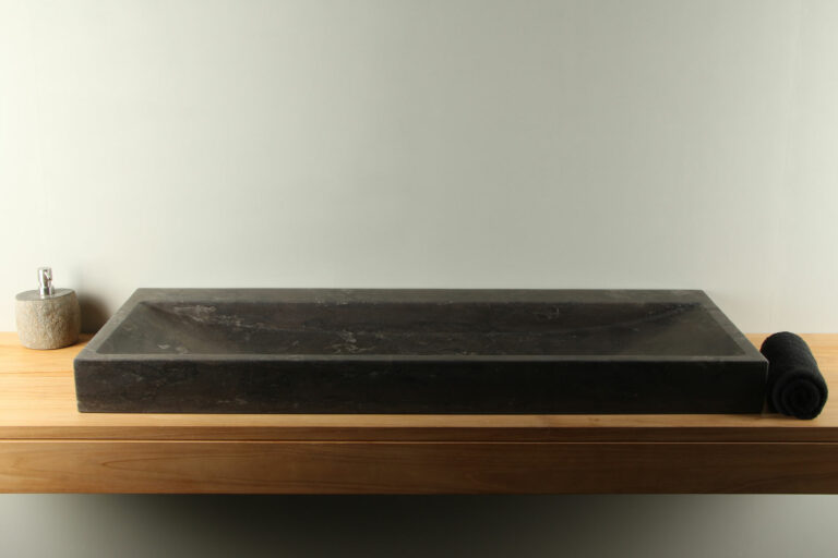 Natuursteen wasbak hardsteen 120 cm BE-004zk