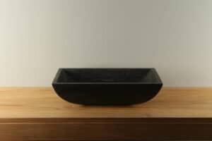 Natuursteen wasbak hardsteen 58 cm BE-016zk