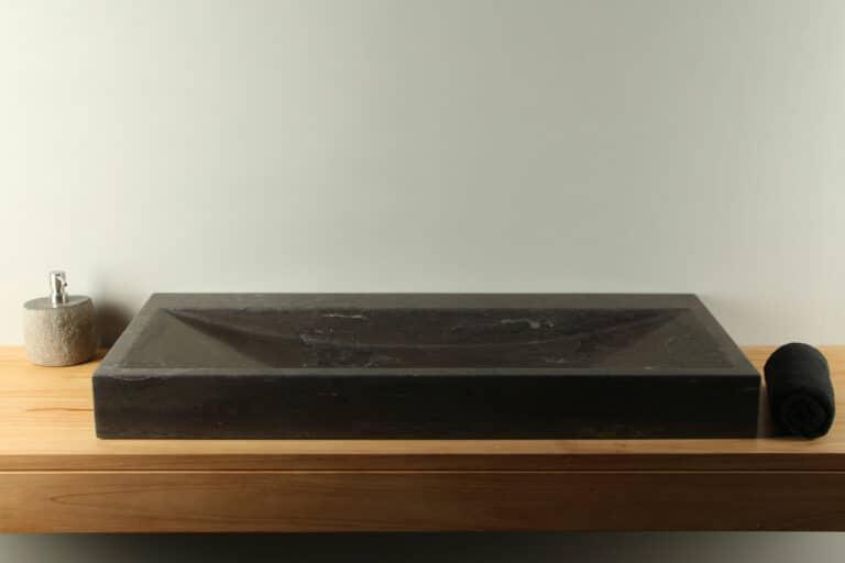 Natuurstenen wasbak hardsteen wastafel 100 cm BE-003zk