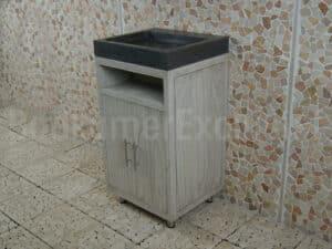 Badkamermeubel Raung Cabinet Mindyhout 50 cm. bluestone