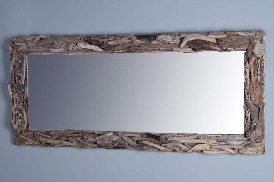 Sloophouten spiegel 180x80 cm.