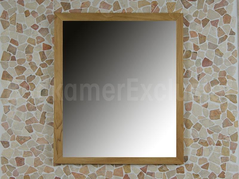 BadkamerExclusief Teakhouten spiegel 70x60x2 cm