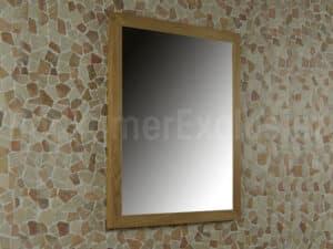 Teakhouten spiegel 70x60x2 cm