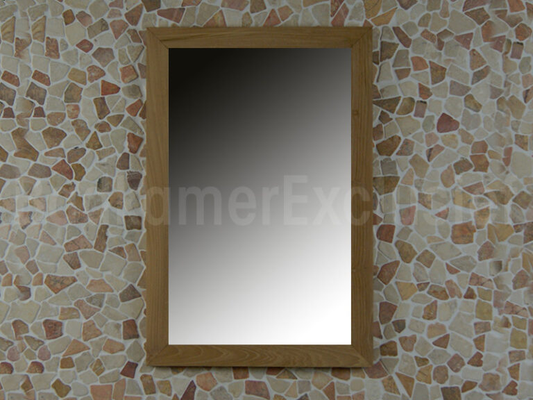 Teakhouten spiegel 75x50x2 cm