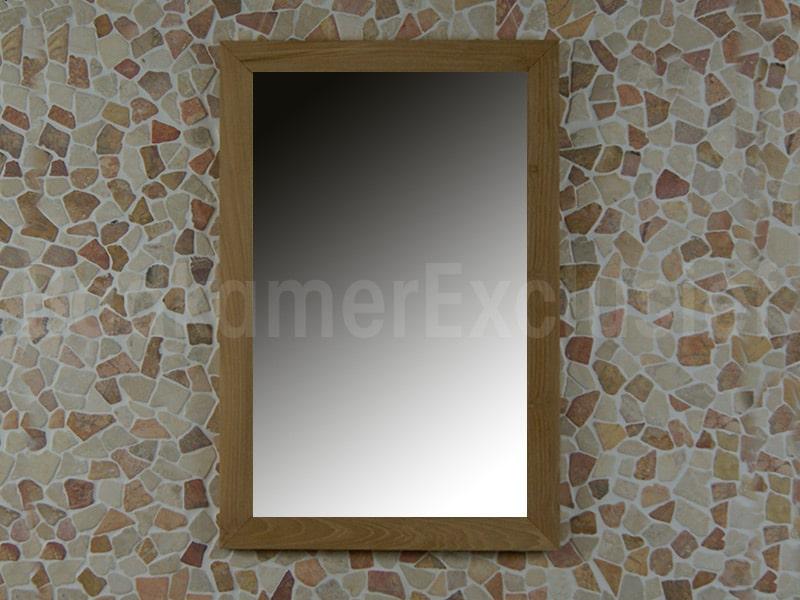 BadkamerExclusief Teakhouten spiegel 75x50x2 cm