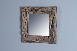 Spiegel driftwood 40x40 cm.