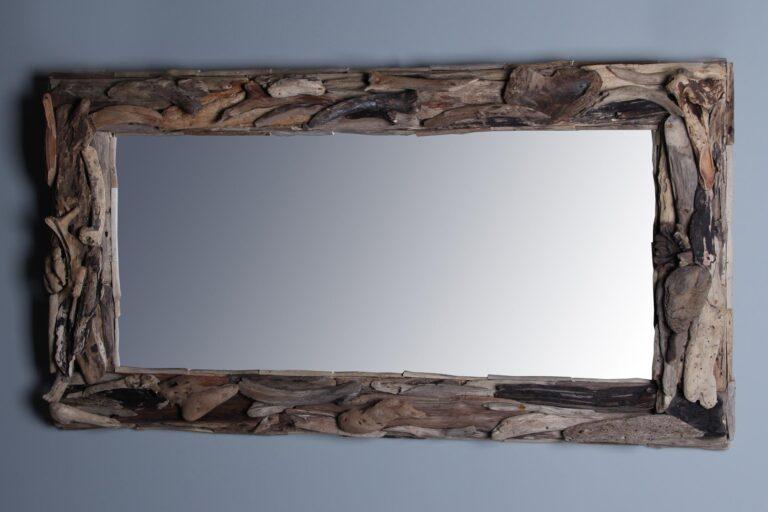 Spiegel driftwood 120x70 cm.