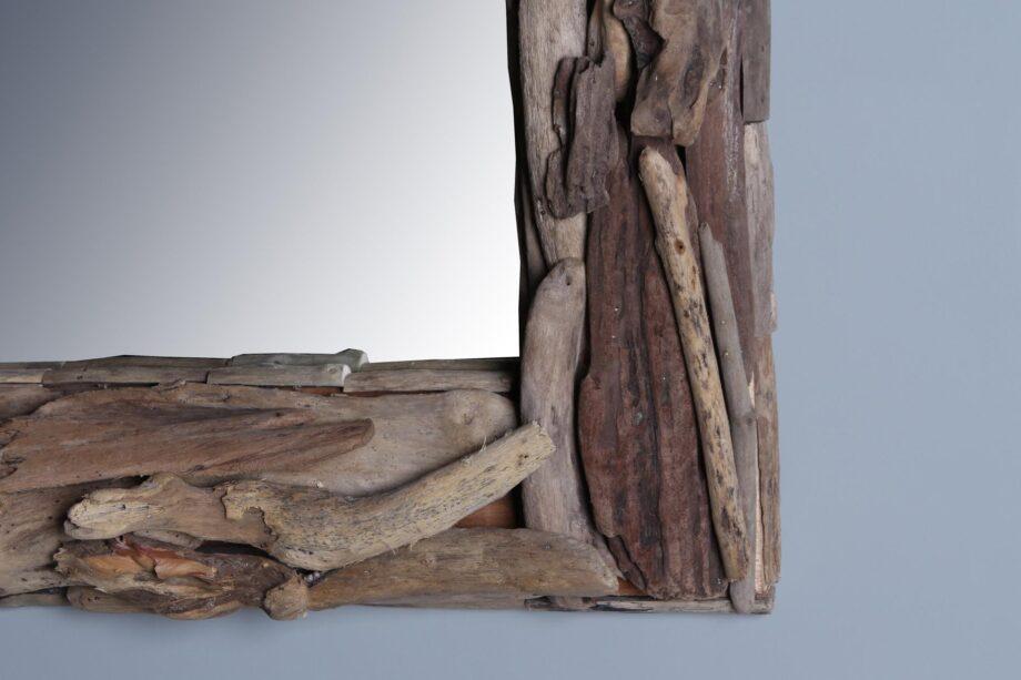 Spiegel sloophout 80x60 cm.