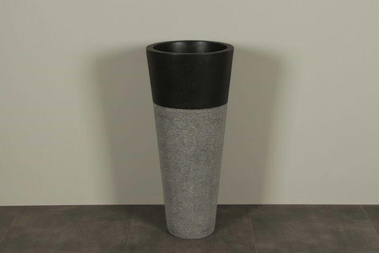 Staande wasbak waszuil 90 cm TZS PS 01 zwart