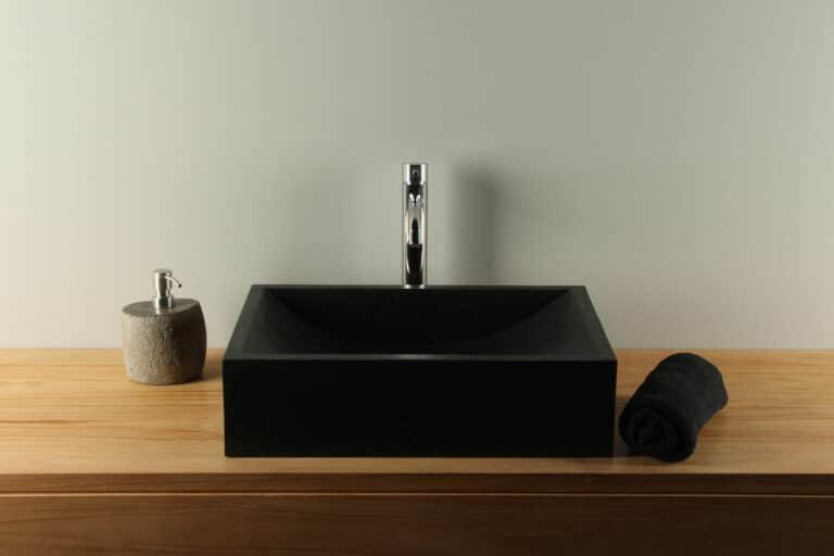 Terrazzo Wastafel zwart 50 cm TZS 015S