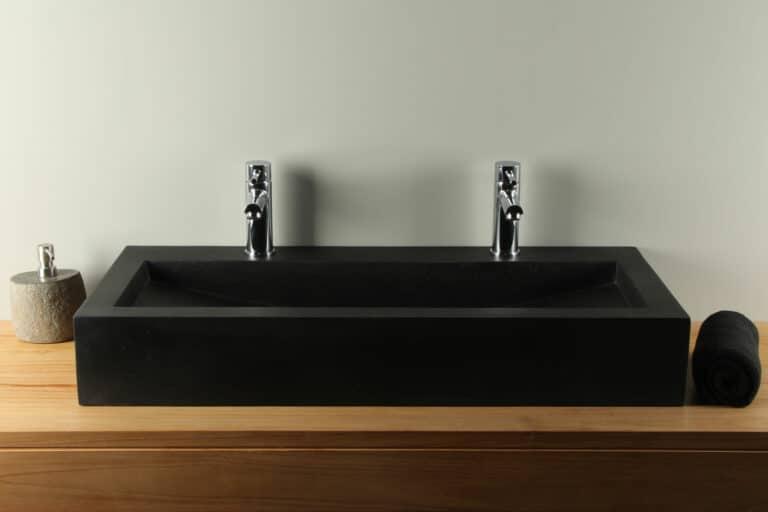 Terrazzo wasbak zwart 90 cm TZS 034S2k