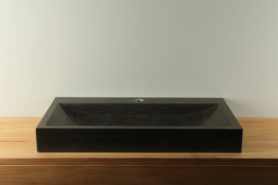 Natuurstenen wasbak hardsteen 80 cm BE-036mk