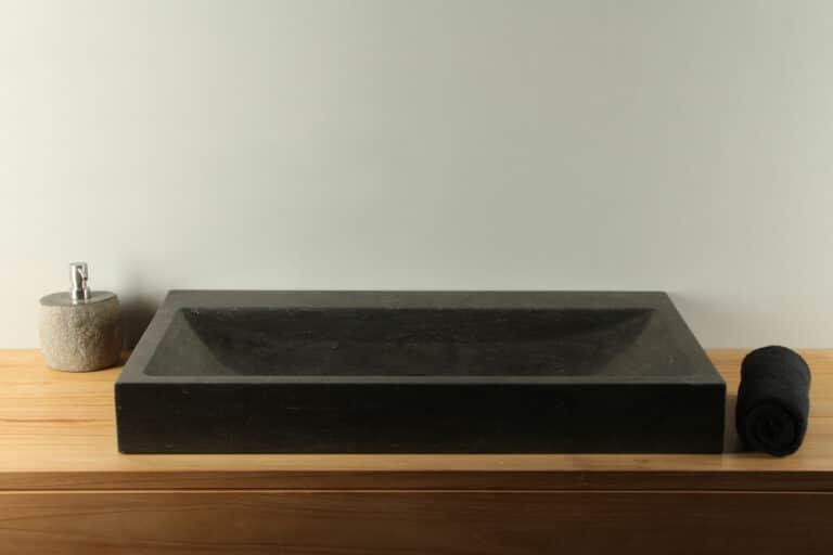 Natuursteen wasbak hardsteen 80 cm BE-036zk