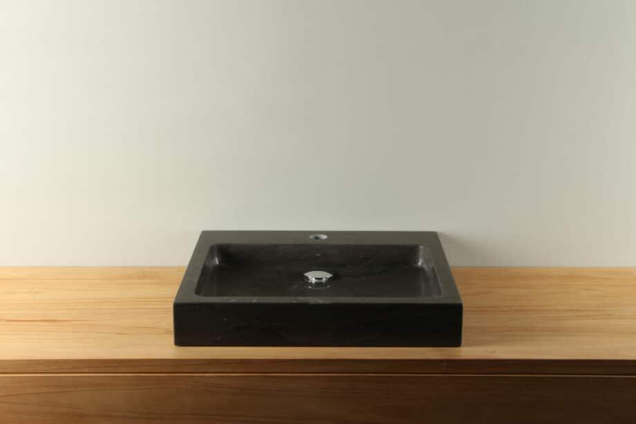 Natuurstenen wasbak hardsteen 50 cm BE-038mk