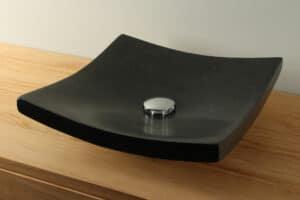 Terrazzo Wastafel zwart 40 cm TZS 002S
