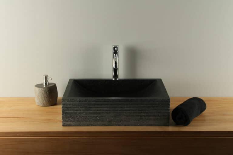 Terrazzo wastafel zwart 50 cm TZS 015SL